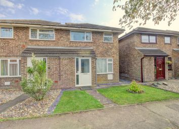 Thumbnail 3 bed semi-detached house for sale in Favell Drive, Furzton, Milton Keynes