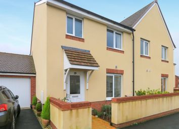 Thumbnail 3 bed semi-detached house for sale in Shareford Way, Cranbrook, Exeter