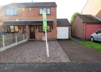 Thumbnail 2 bed semi-detached house for sale in Covert Close, Hucknall, Nottingham