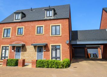 Thumbnail 4 bed semi-detached house for sale in Jennings Close, Marina Gardens, Northampton