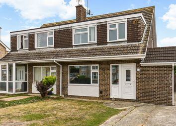 Thumbnail 3 bed semi-detached house for sale in Glynde Crescent, Felpham