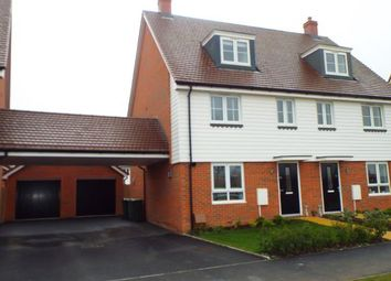 Thumbnail 4 bed semi-detached house for sale in Edmett Way, Maidstone, Kent