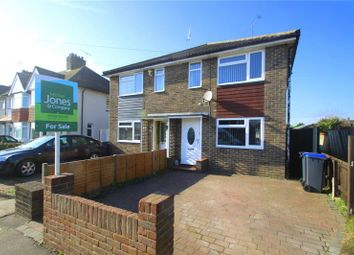 Thumbnail 3 bed semi-detached house for sale in Hillrise Avenue, North Sompting, West Sussex