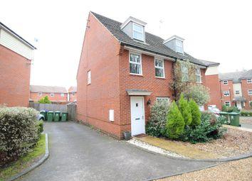 Thumbnail 3 bed semi-detached house for sale in Castilian Way, Whiteley, Fareham
