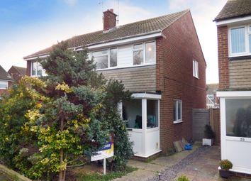 Thumbnail 3 bed semi-detached house for sale in Fontwell Close, Rustington, Littlehampton