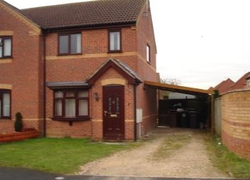 Thumbnail 2 bed semi-detached house to rent in Beechtree Close, Ruskington