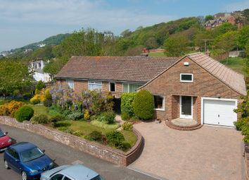Thumbnail 3 bed detached bungalow for sale in Radnor Cliff Crescent, Sandgate, Folkestone
