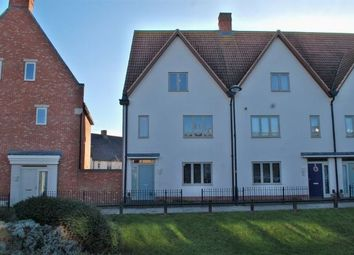 Thumbnail 4 bedroom end terrace house for sale in Mill Pond Drive, Upton, Northampton