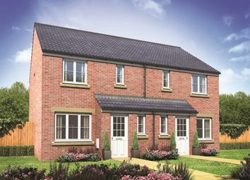 "Thumbnail 3 bed semi-detached house for sale in ""The Hanbury"" at Burwell Road, Exning, Newmarket"