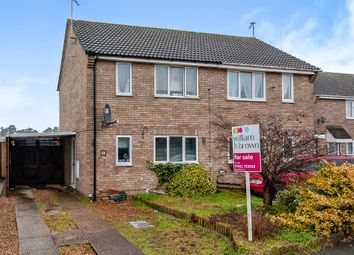 Thumbnail 3 bedroom semi-detached house for sale in Harwood Avenue, Thetford