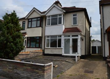 Thumbnail 4 bed semi-detached house to rent in Vicarage Road, Hornchurch