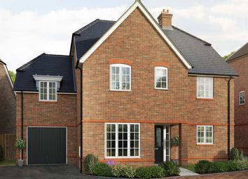 "Thumbnail 5 bed detached house for sale in ""The Tiverton Side"" at Saunders Way, Basingstoke"