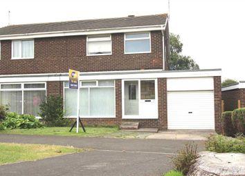 Thumbnail 3 bed semi-detached house for sale in Faversham Place, Parkside Dale, Cramlington