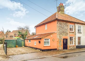 Thumbnail 2 bedroom semi-detached house for sale in The Street, Bawdeswell, Dereham