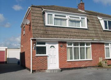 Thumbnail 3 bedroom semi-detached house for sale in Jordan Ave, Burton On Trent, Staffs