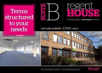 Thumbnail Office to let in Ground Floor Suite B, Regent House, Clinton Avenue, Nottingham