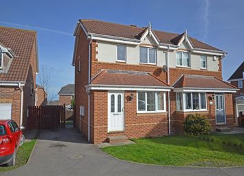 Thumbnail 2 bed semi-detached house for sale in Springvale Close, Sharlston Common, Wakefield