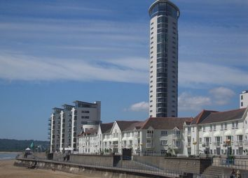 Thumbnail 1 bed flat to rent in Meridian Tower, Trawler Road, Maritime Quarter, Swansea