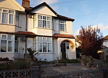 Thumbnail 3 bed semi-detached house for sale in Hazeldene Road, Weston-Super-Mare