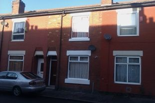 Thumbnail 2 bedroom terraced house to rent in Parkfield Avenue, Rusholme, Manchester