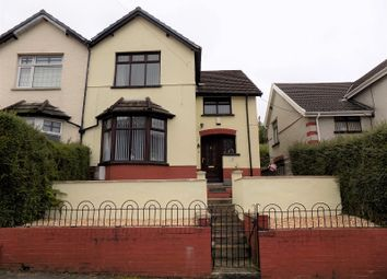 Thumbnail 3 bed semi-detached house for sale in Castleton Avenue, Tynewydd, Treherbert, Rhondda Cynon Taff.