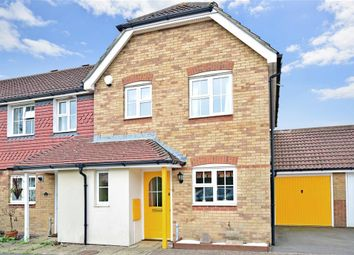Thumbnail 3 bed end terrace house for sale in Ingram Close, Hawkinge, Folkestone, Kent