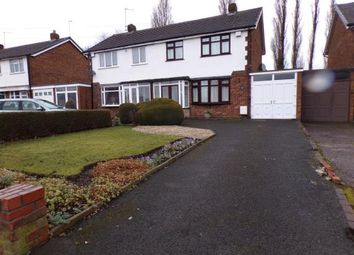 Thumbnail 3 bed semi-detached house for sale in Bentley Lane, Short Heath, Willenhall, West Midlands