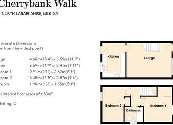 Thumbnail 2 bed end terrace house to rent in Cherrybank Walk, Airdrie