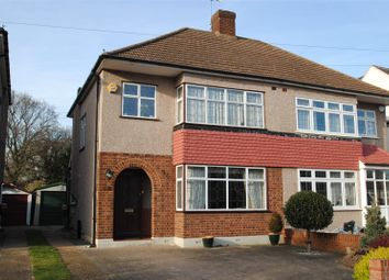 Thumbnail 3 bed semi-detached house for sale in Fleet Avenue, Upminster