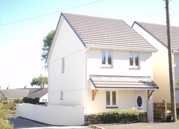 Thumbnail 3 bed detached house to rent in School Road, Summercourt, Newquay