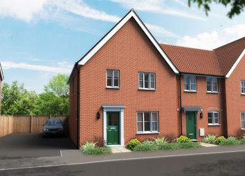 Thumbnail 3 bed end terrace house for sale in Shotesham Road, Poringland, Norwich