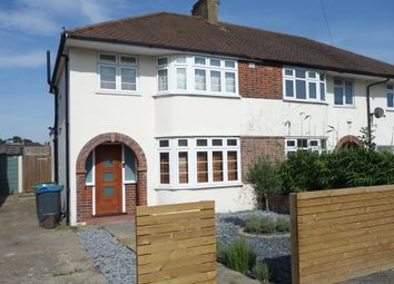 Thumbnail 3 bed semi-detached house to rent in Rhodrons Avenue, Chessington