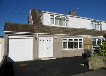 Thumbnail 3 bed semi-detached bungalow for sale in Maes Glas, Cefn Cribwr, Bridgend, Mid Glamorgan