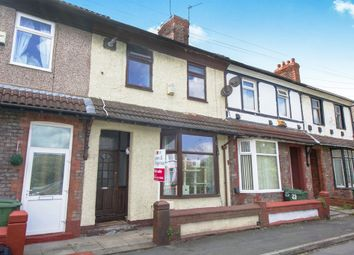 Thumbnail 3 bed terraced house for sale in Kempton Road, New Ferry, Wirral