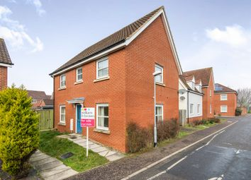 Thumbnail 3 bed detached house for sale in Mountbatten Drive, Sprowston, Norwich