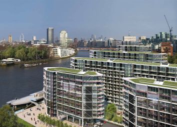 Thumbnail 2 bed flat for sale in Riverlight, South Bank, London