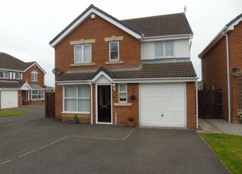 Thumbnail 4 bedroom detached house for sale in New Moor Close, Ashington