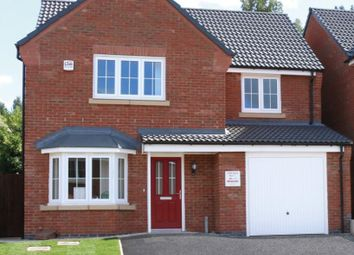Thumbnail 4 bed detached house for sale in Bridgemere Close, Leicester