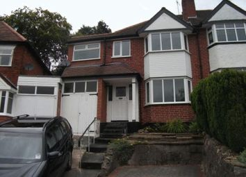 Thumbnail 4 bed semi-detached house to rent in Battenhall Road, Harborne, Birmingham