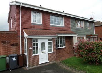 Thumbnail 3 bed semi-detached house to rent in Claverley Drive, Warstones, Wolverhampton, West Midlands