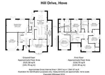 Thumbnail 5 bed detached house for sale in Hill Drive, Hove