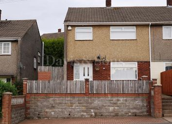 Thumbnail 3 bed semi-detached house for sale in Manor Way, Risca, Newport.