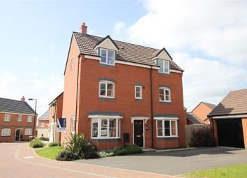 Thumbnail 4 bedroom detached house for sale in Long Swath Way, Birstall, Leicester