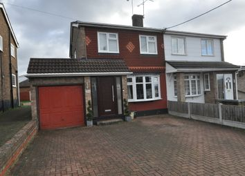 Thumbnail 3 bed semi-detached house to rent in Manor Road, Benfleet