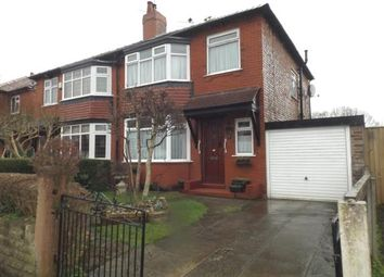 Thumbnail 3 bedroom semi-detached house for sale in Palmerston Road, Woodsmoor, Stockport, Cheshire