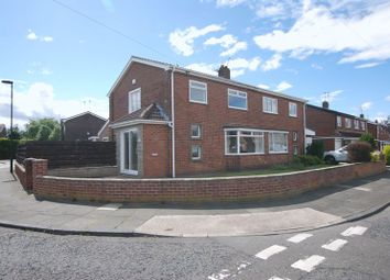 Thumbnail 3 bed semi-detached house for sale in Broomley Walk, Fawdon, Newcastle Upon Tyne