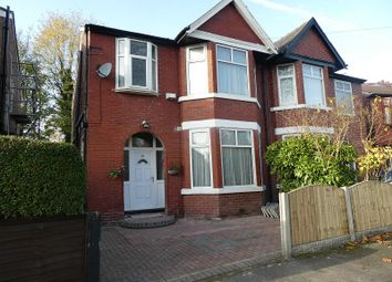 Thumbnail 3 bed semi-detached house for sale in Park Drive, Whalley Range, Manchester.