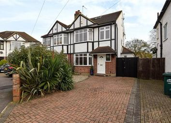 Thumbnail 4 bed semi-detached house for sale in Templedene Avenue, Staines-Upon-Thames, Surrey