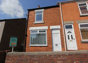 Thumbnail 2 bed end terrace house for sale in Creswell Road, Clowne, Chesterfield, Derbyshire