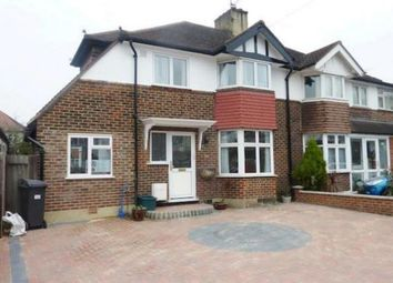 Thumbnail 4 bed semi-detached house to rent in Hamilton Avenue, Tolworth, Surbiton